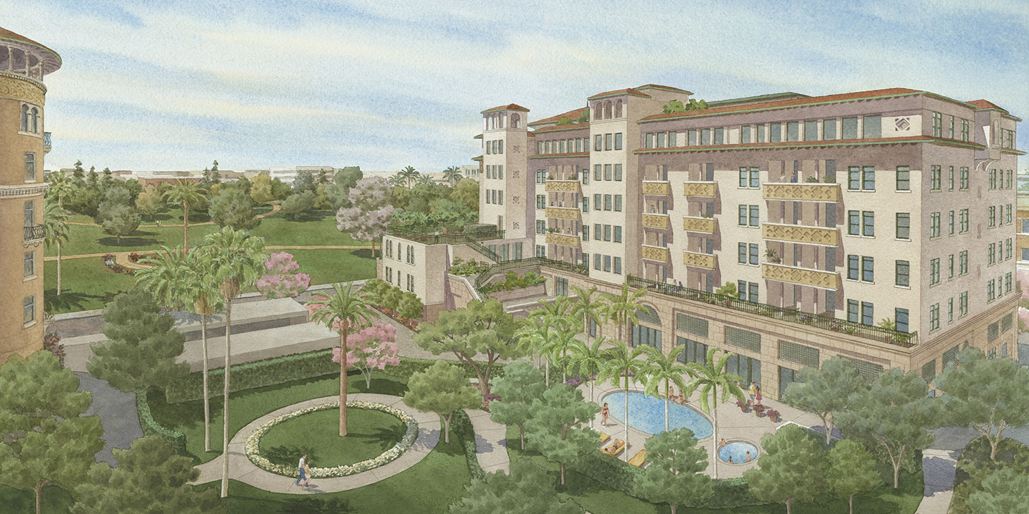 Rendering of Central Part Apartments