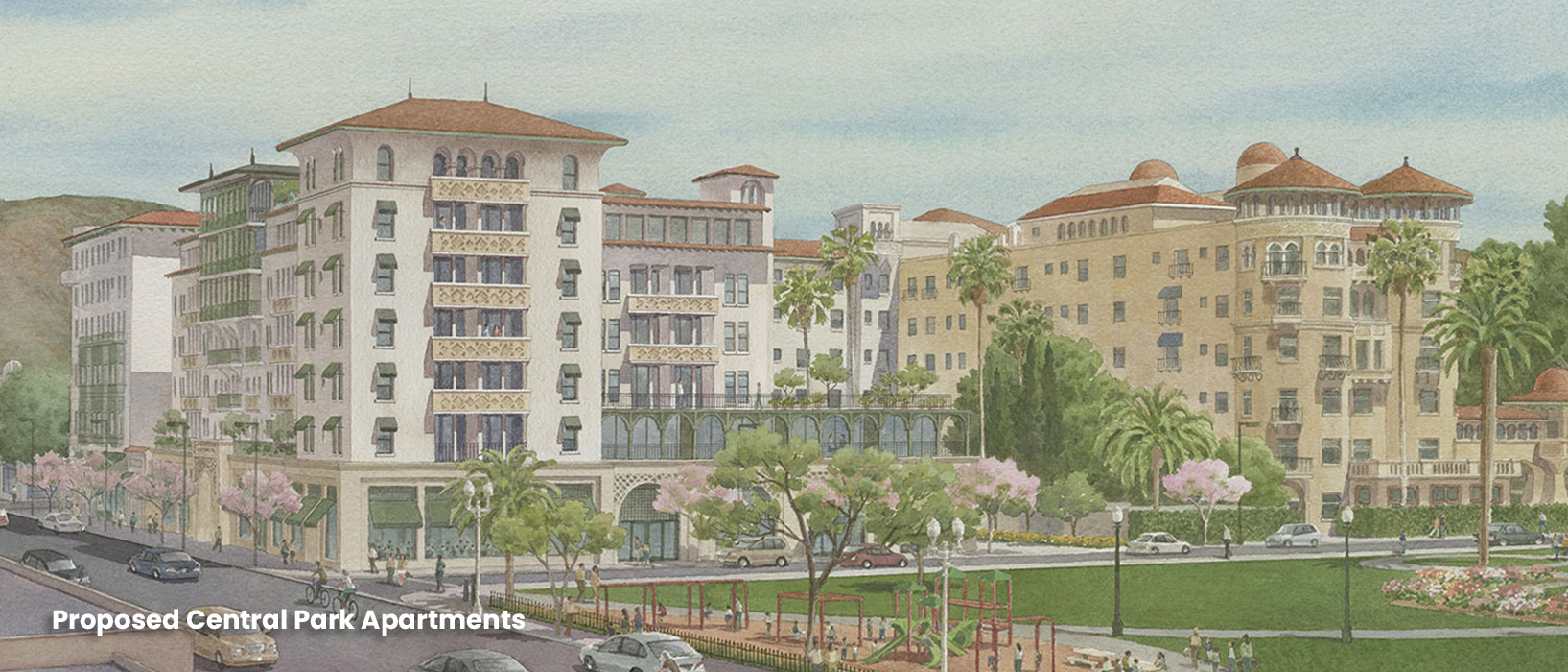 Rendering of proposed Central Part Apartments